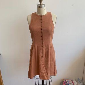 Rachel Comey Rust Silk/Linen Dress